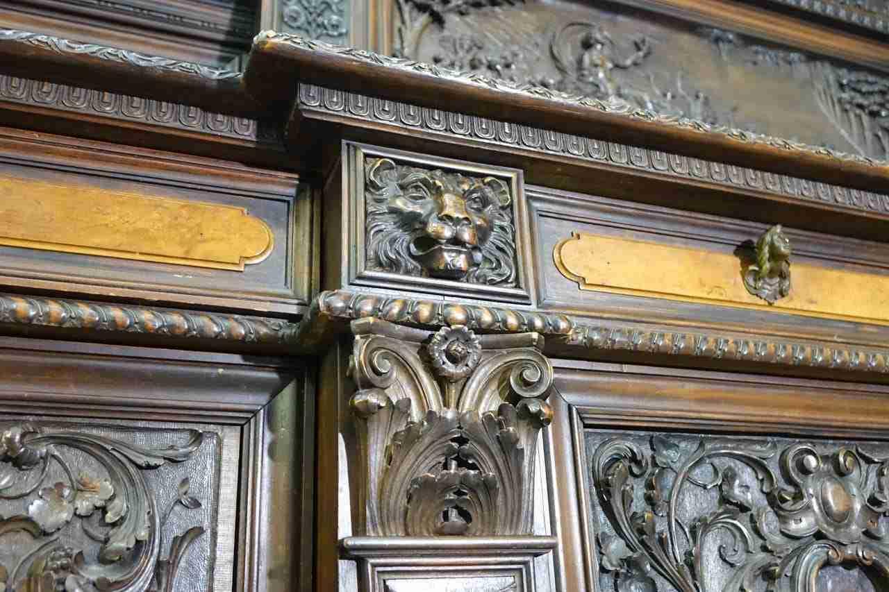 Sala Da Pranzo Scolpita Firmata G. Scalambrin 0179001 Gognabros.it #A57B26 1280 853 Sala Da Pranzo Antiquariato