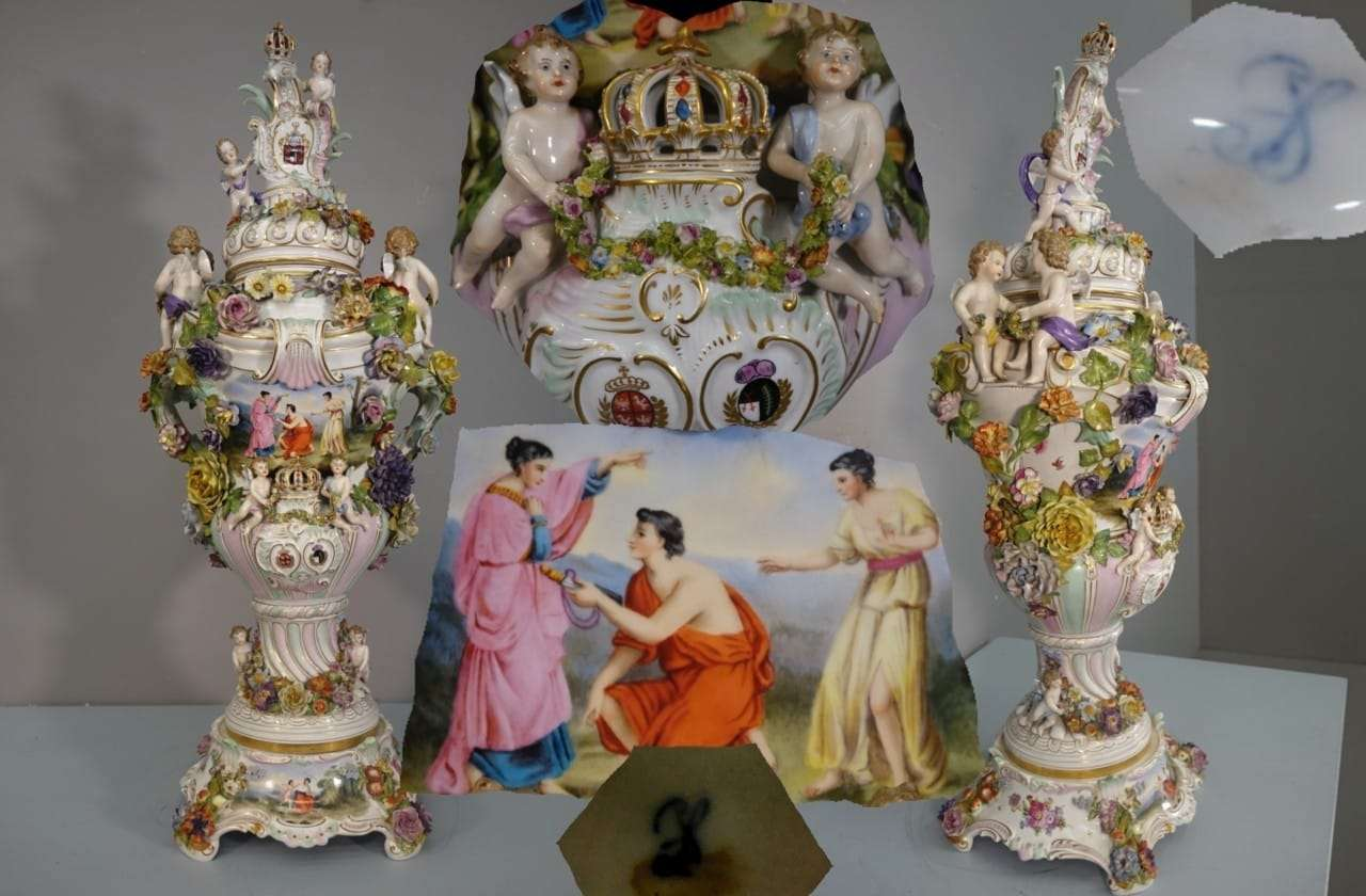 Vaso ceramica firmata Dresda  0270072