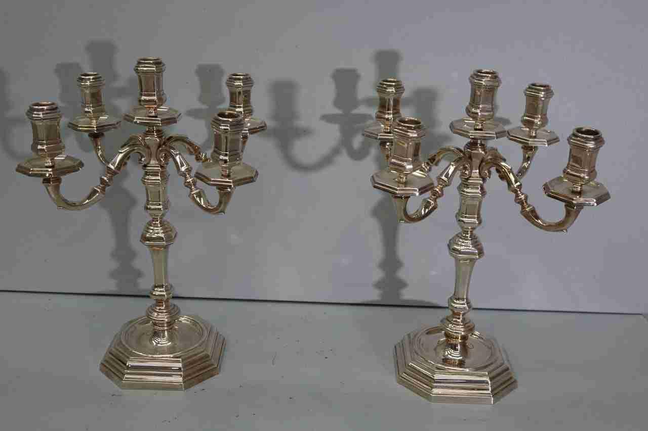 candelieri argento 800 peso 4 kg