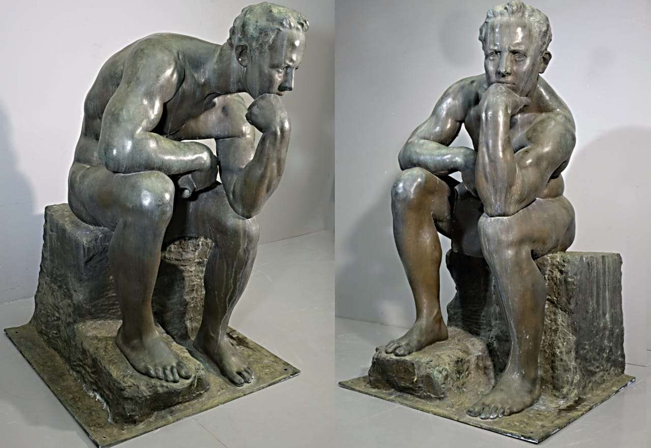 Scultura in bronzo, ernesto bazzaro