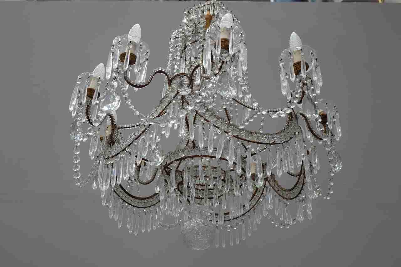 Lampadario maria teresa in cristallo
