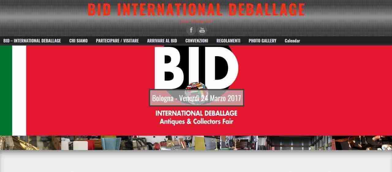 BID – BOLOGNA INTERNATIONAL DEBALLAGE  Venerdì 24 Marzo 2017