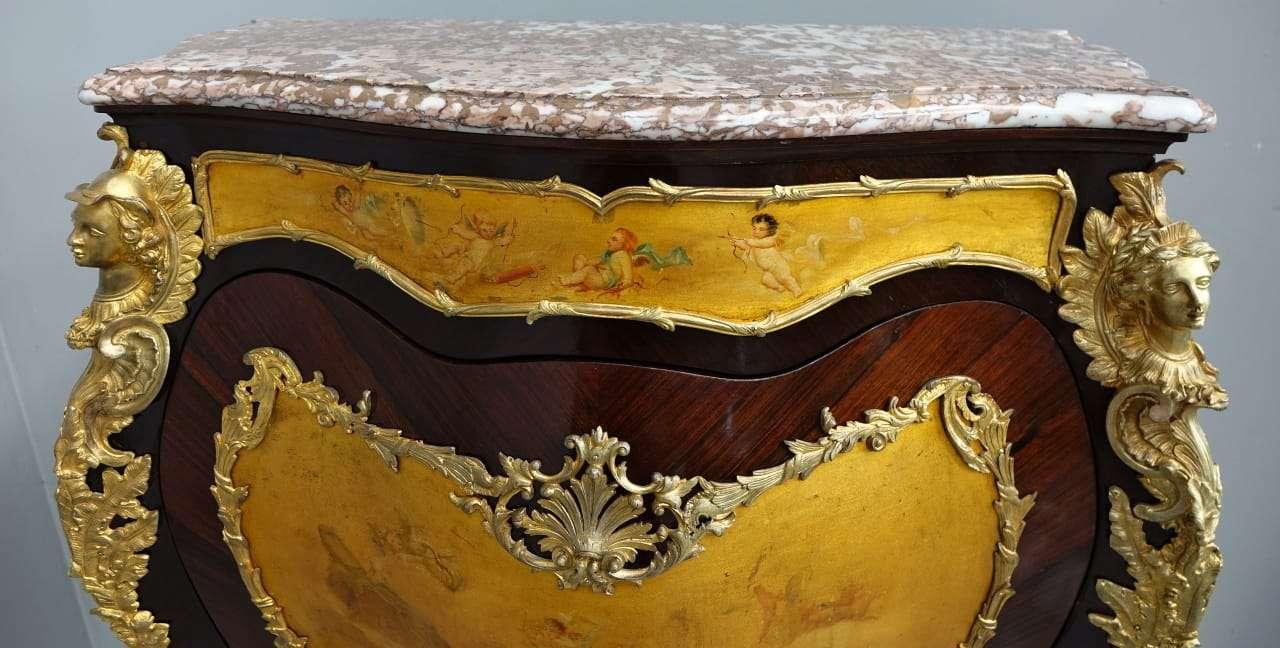 Credenza rocaille palissandro bronzi dorati vernis martin  0370008