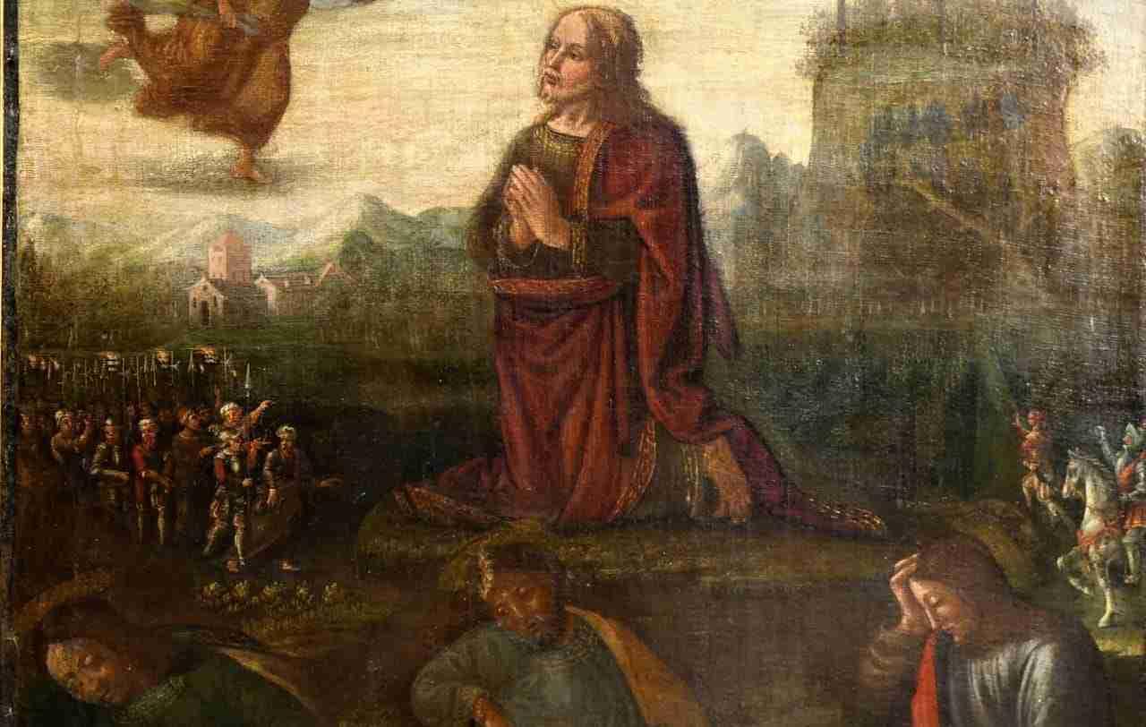 Dipinto Orazione nell' Orto epoca 500   0479014
