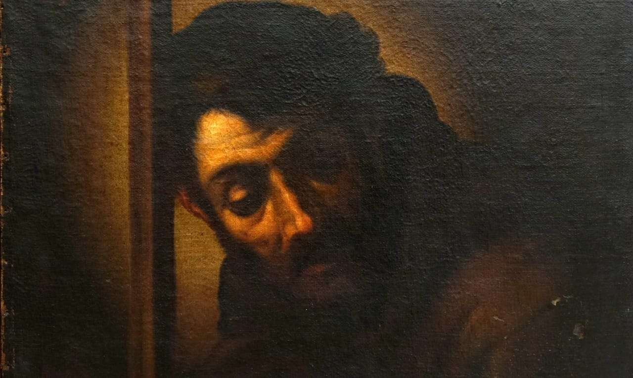 Dipinto olio su tela San Francesco  0479012