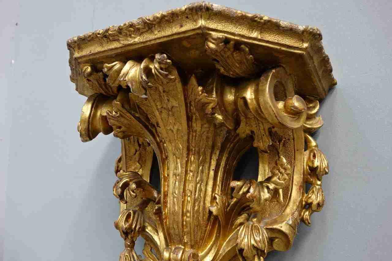 mensola dorata veneziana epoca 700   0470009