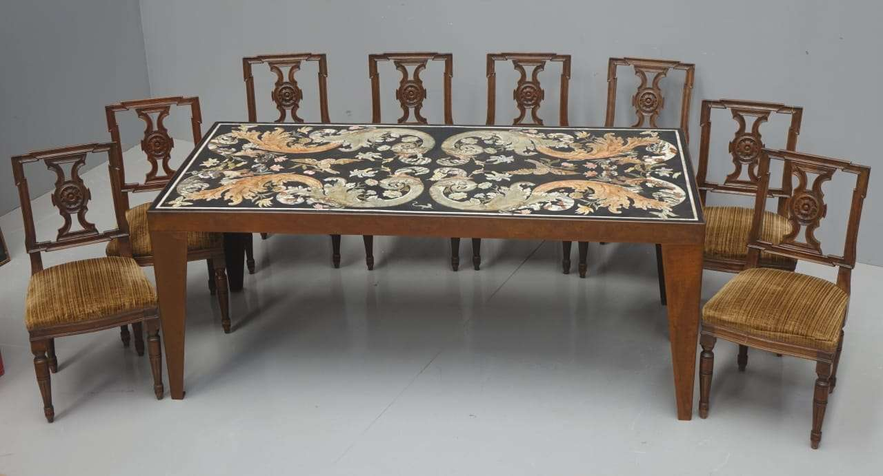 SCAGLIOLA policroma tavolo finitura cor-ten corten 0170023
