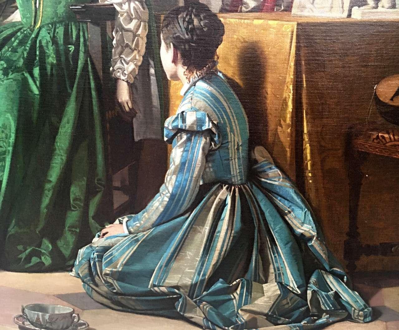 grande Dipinto olio su tela Caterina de Medici  0270077