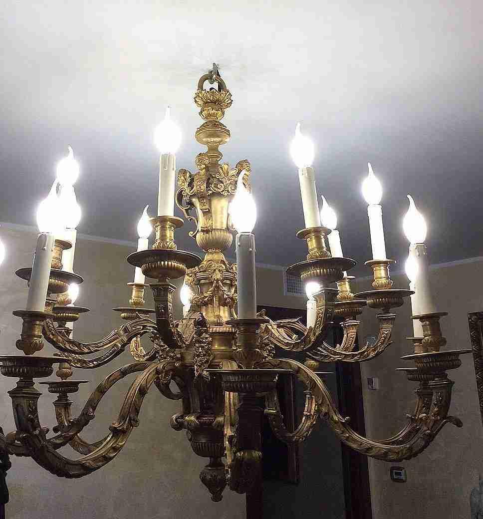 Люстра Людовика XIV, бронза Андре-Шарля Буля