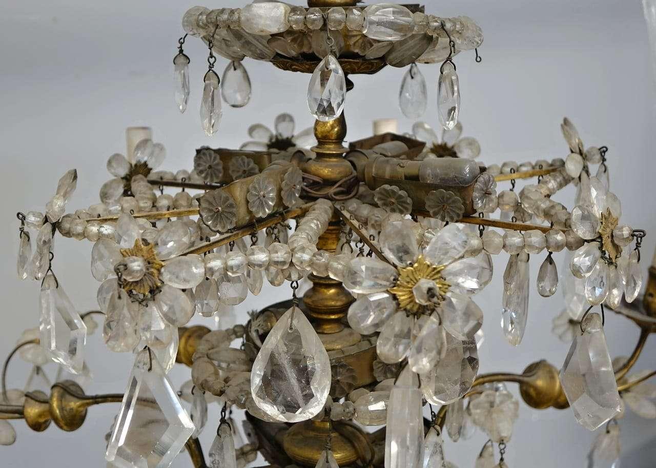 Lampada Cristallo Di Rocca Proprietà : Lampadario genovese cristallo di rocca gognabros
