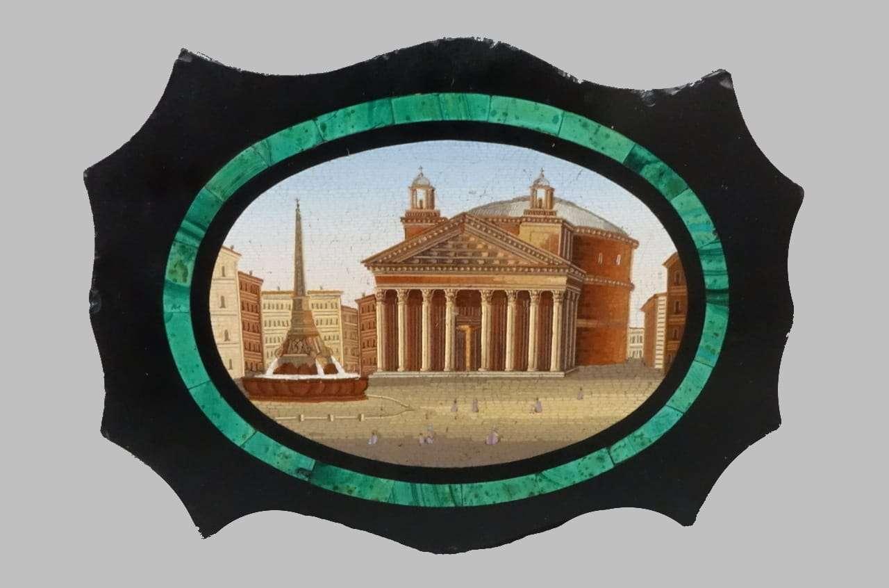 Micromosaico vaticano piazza  Panteon di Roma