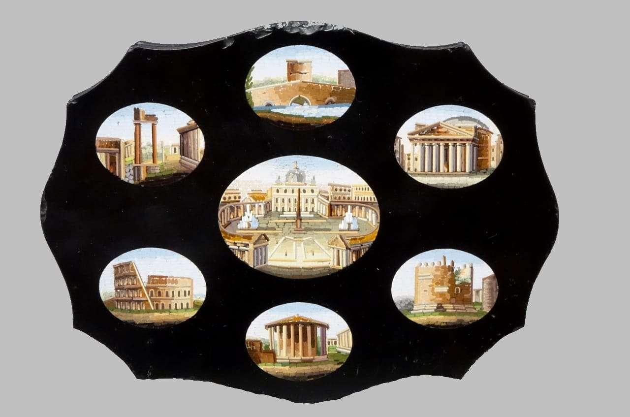 Micromosaico piazze romane roma vaticano pantheon colosseo