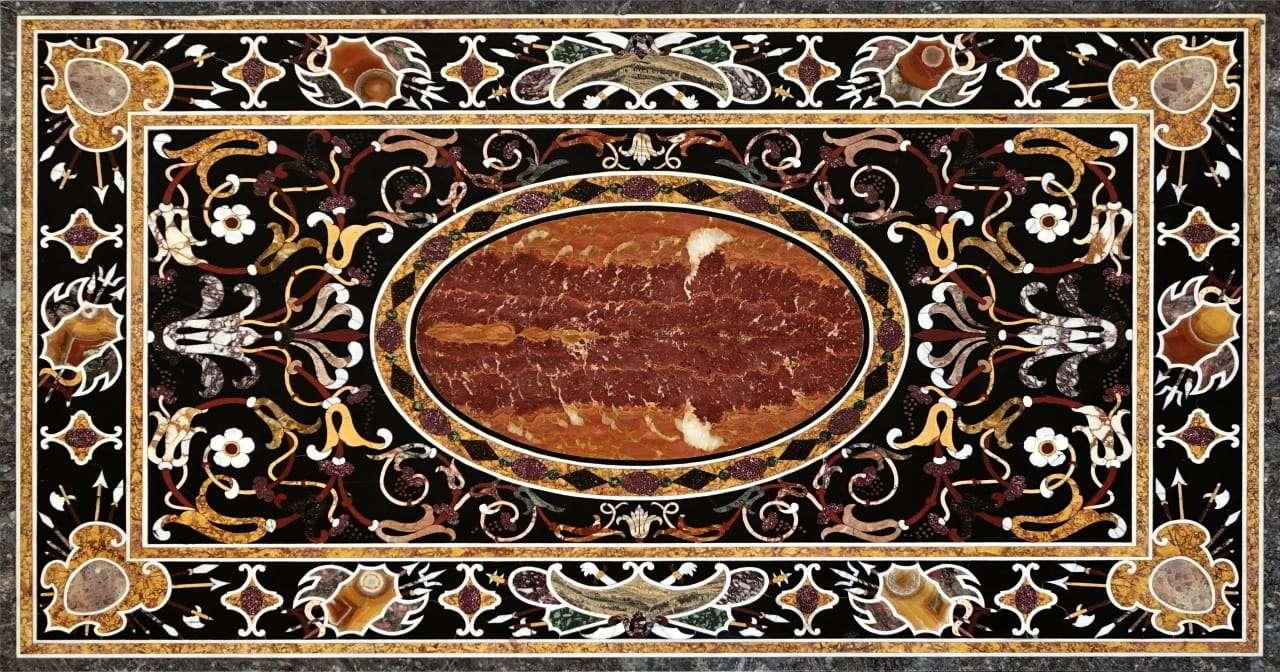 Piano in commesso  marmi intarsiati  marmi policromi