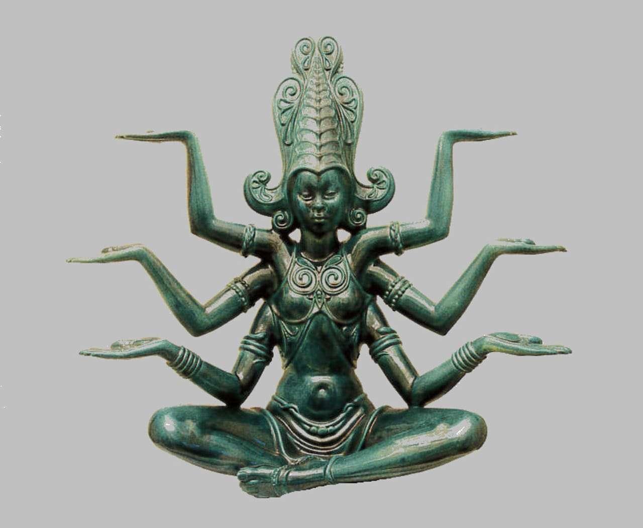 grande Scultura Dea Kali Lenci Abele Jacopi