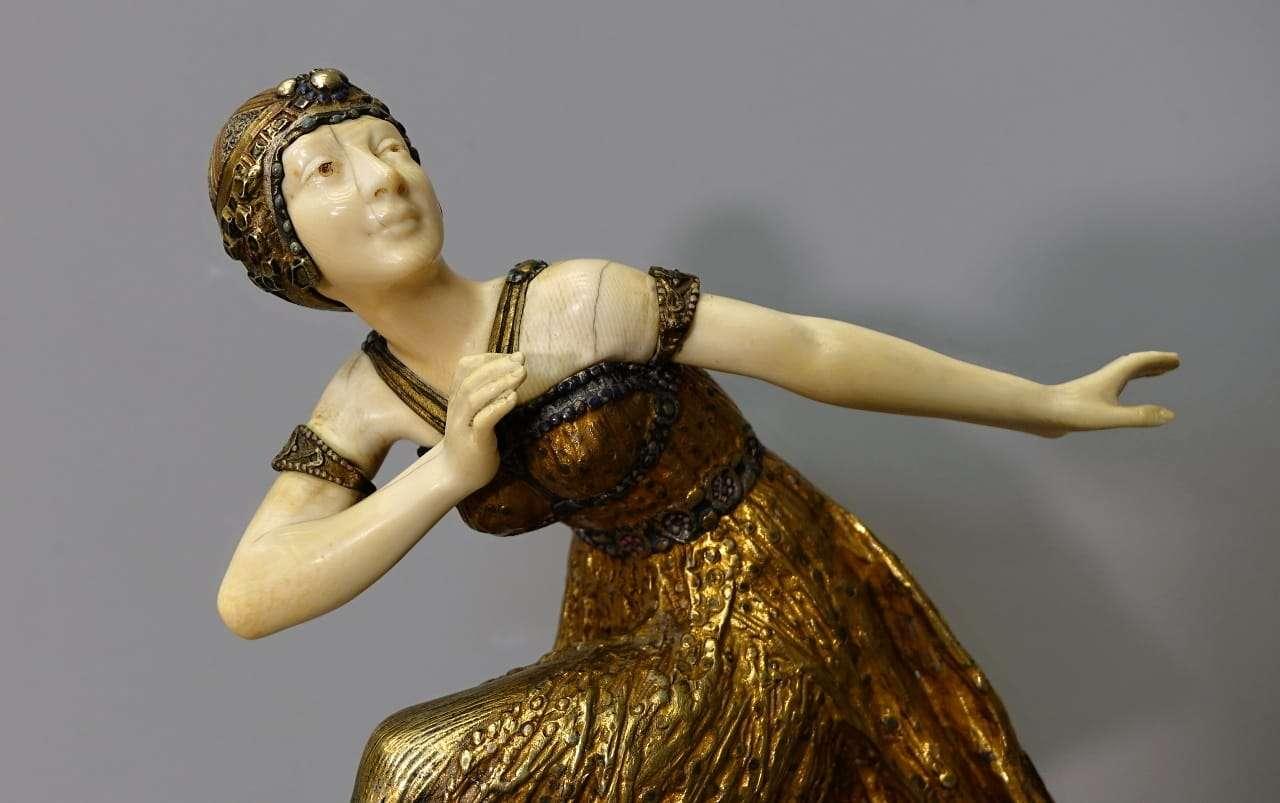 Scultura D.H. Chiparus Ballerina in avorio