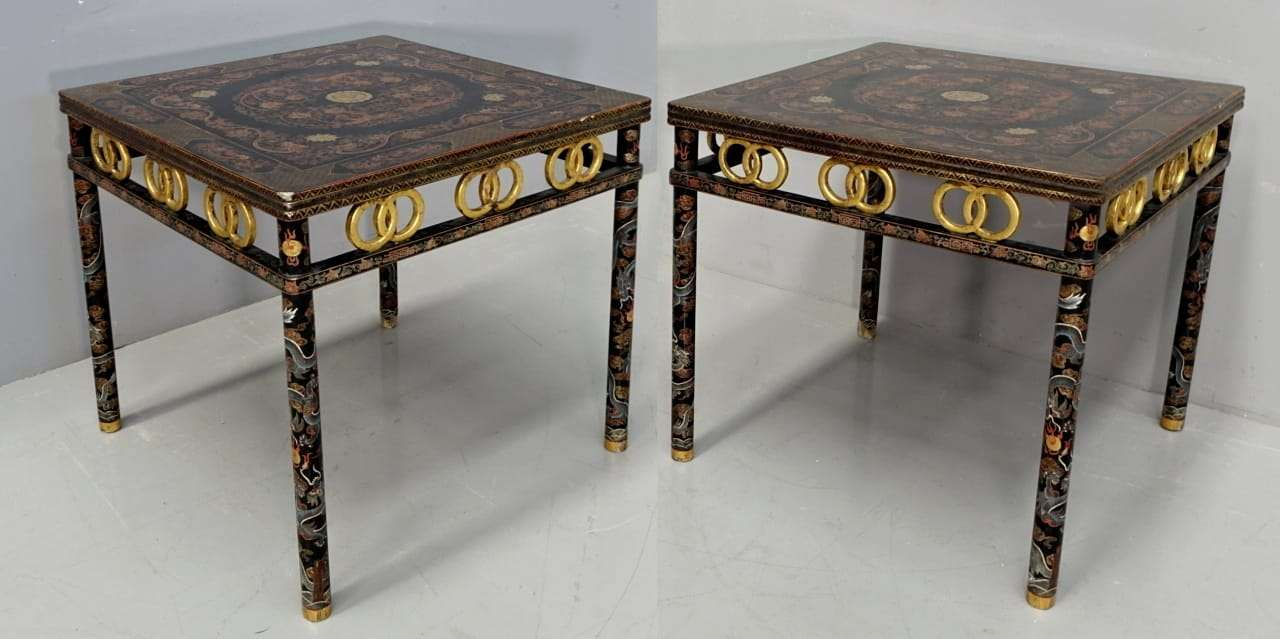 pendant of lacquered Chinese tables