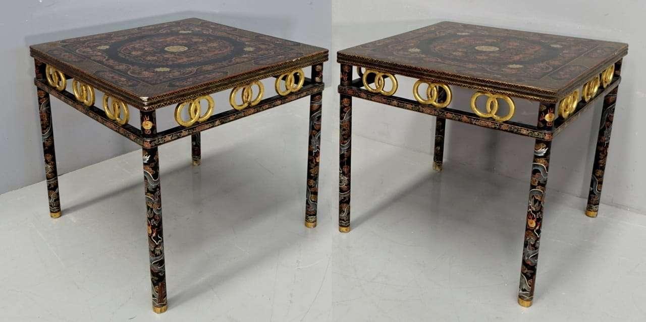 подвеска из лакированных китайских столов