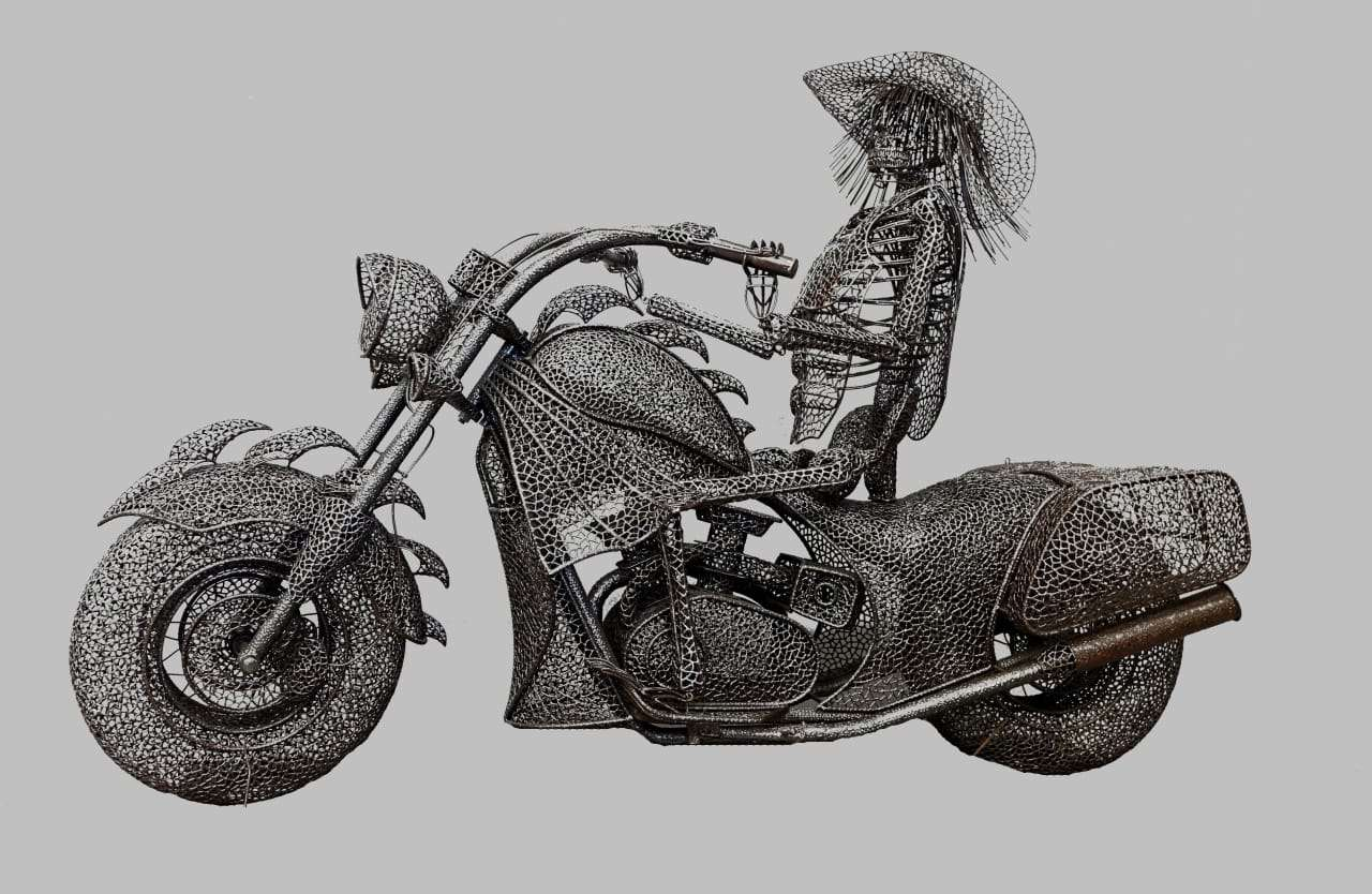 "Anacleto Spazzapan moto Harley Davidson ""Ghost Rider"""