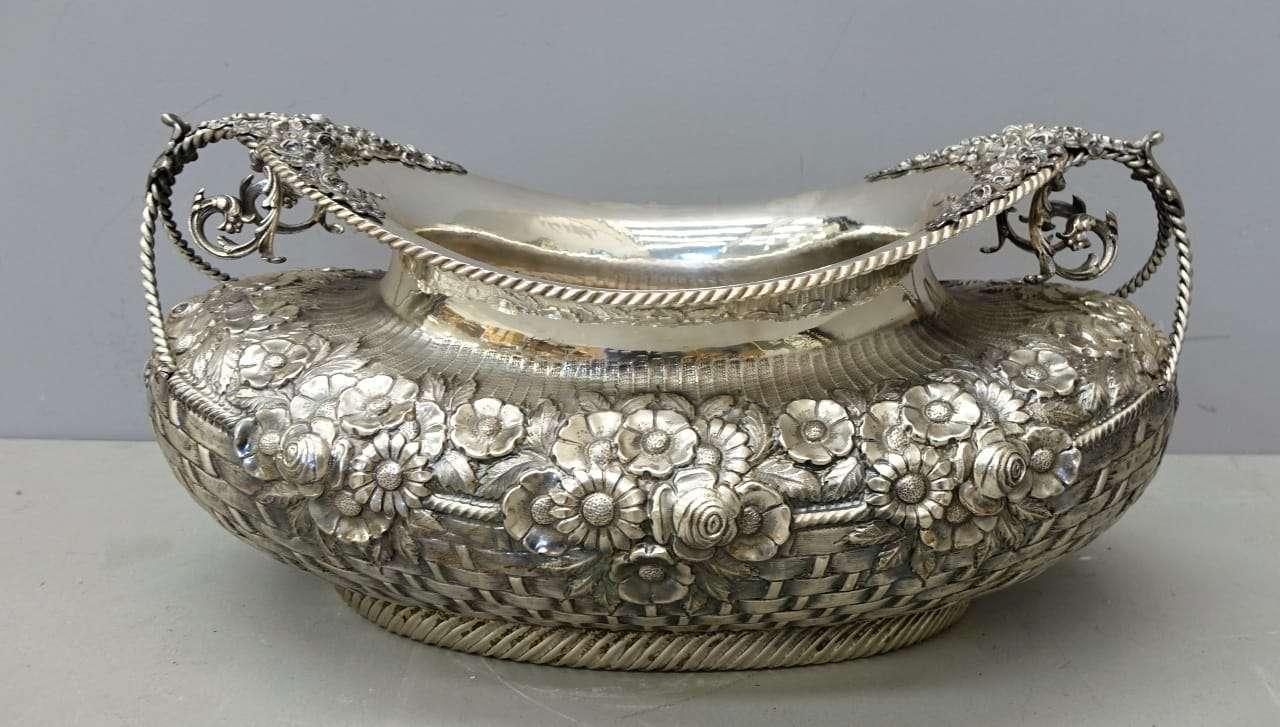 Centrotavola argento massiccio punzonato 1079002