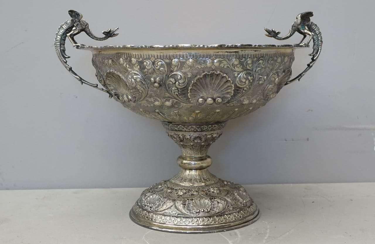 Coppa vaso in argento massiccio Apis Palermo 1079003