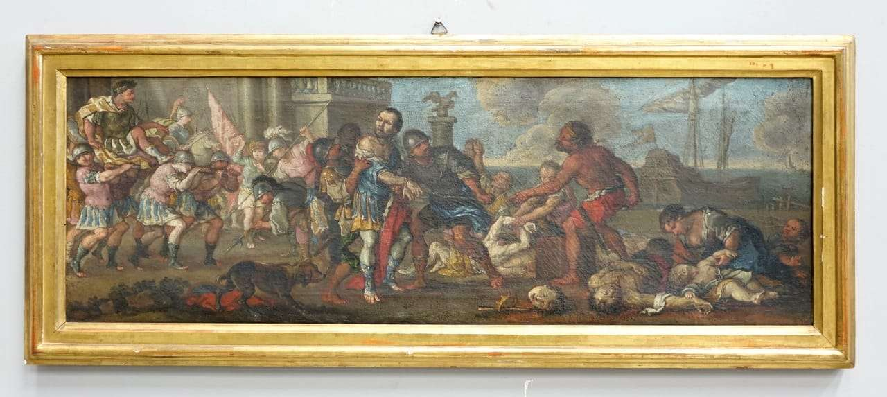 Dipinto olio su tela Bamboccianti  1017005-10