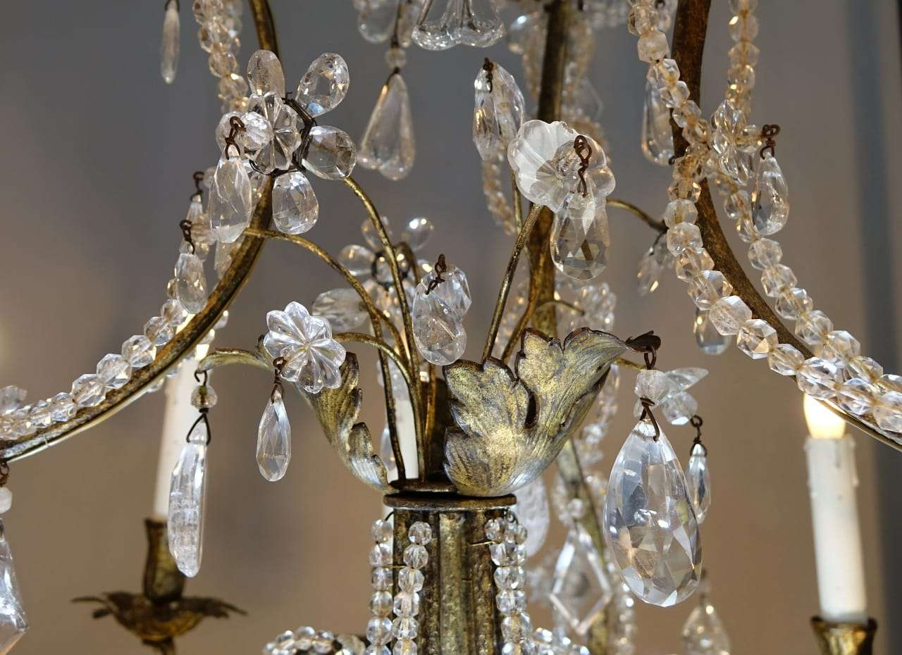 Lampada Cristallo Di Rocca Proprietà : Coppia di lampadari in cristallo di rocca epoca torino