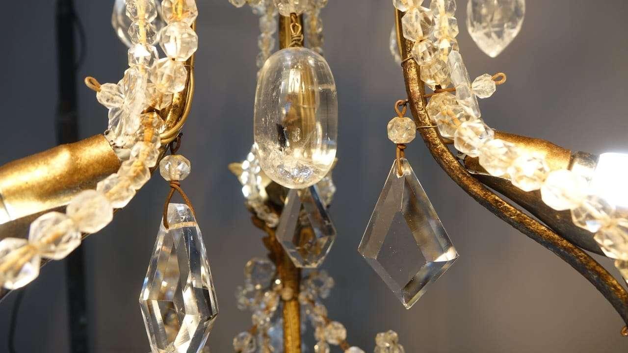 Lampada Cristallo Di Rocca Proprietà : Coppia di lampadari in cristallo di rocca epoca 1730 torino