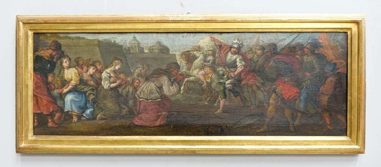 Quadro dipinto raffigurante battaglia 1017005