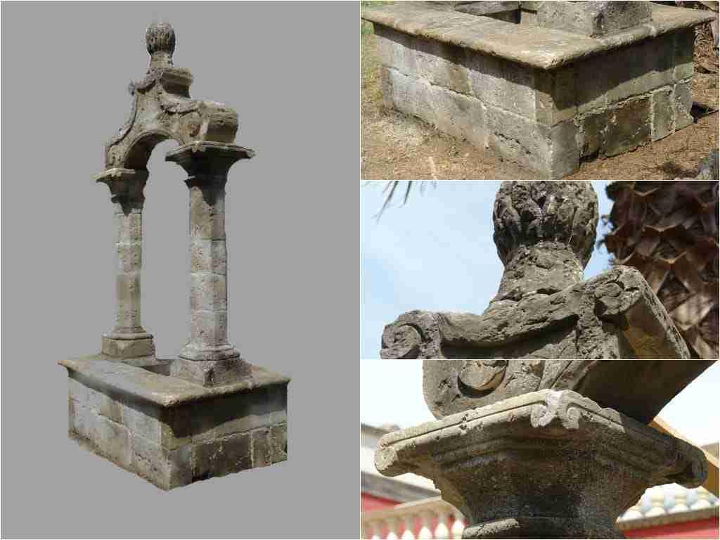 Grande pozzo scolpito in pietra di Lecce