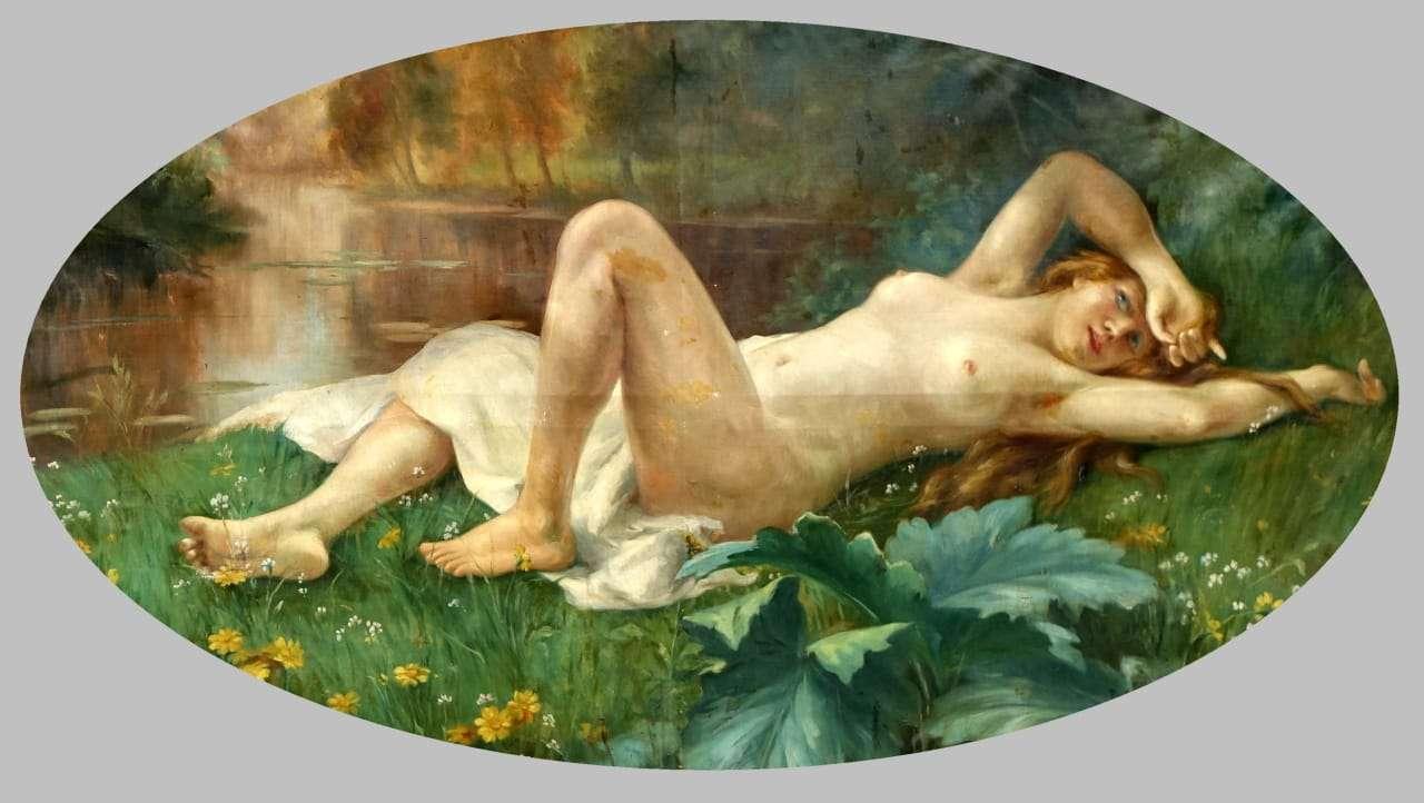 Dipinto di grandi dimensioni nudo femminile firmato Paolo Biondi 1117002-16