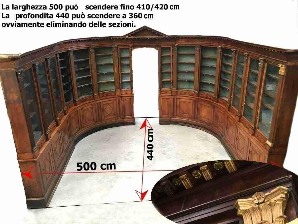 Libreria farmacia lombarda boiserie neoclassica   1117002
