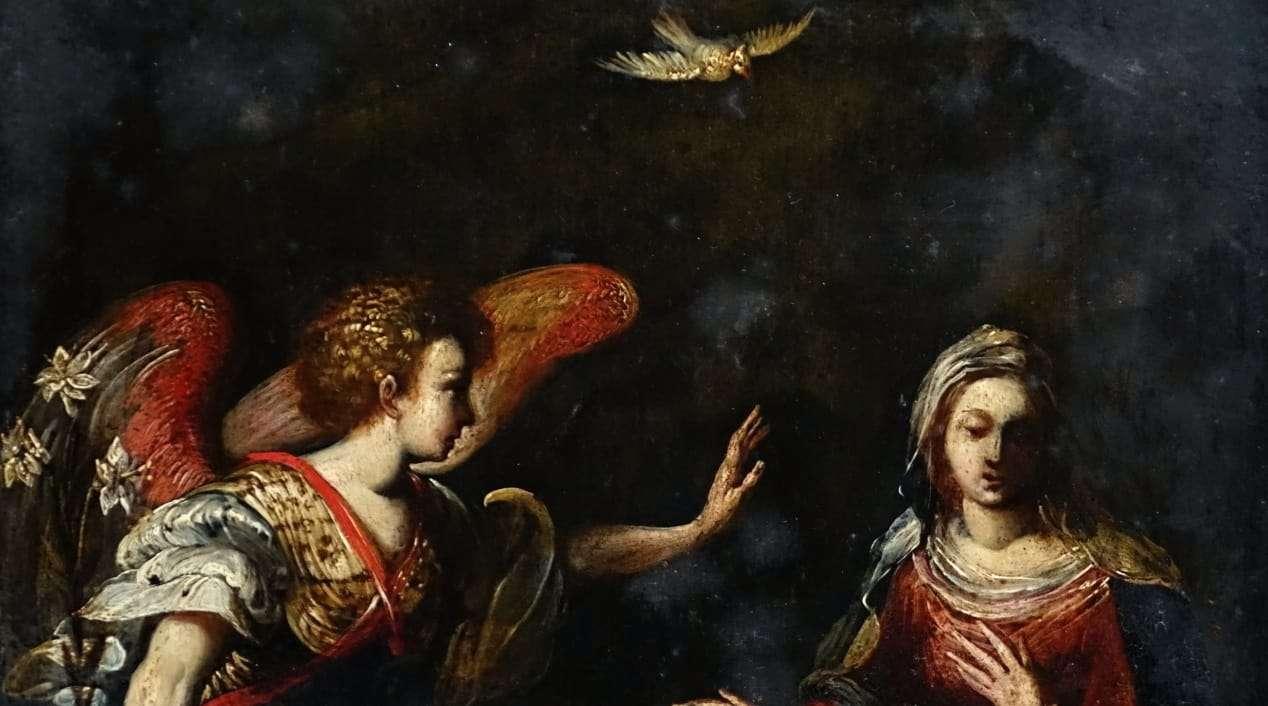 Favorito Ardesia dipinta l'annunciazione Arcangelo Gabriele verona 0917037  QX24