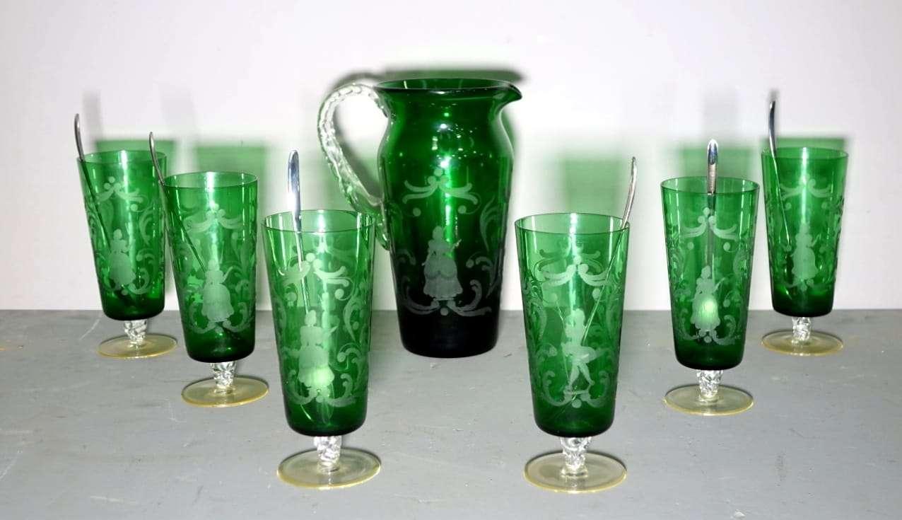 Servizio bicchieri vetro S.I.V.A.  M. INDOVINO VENEZIA