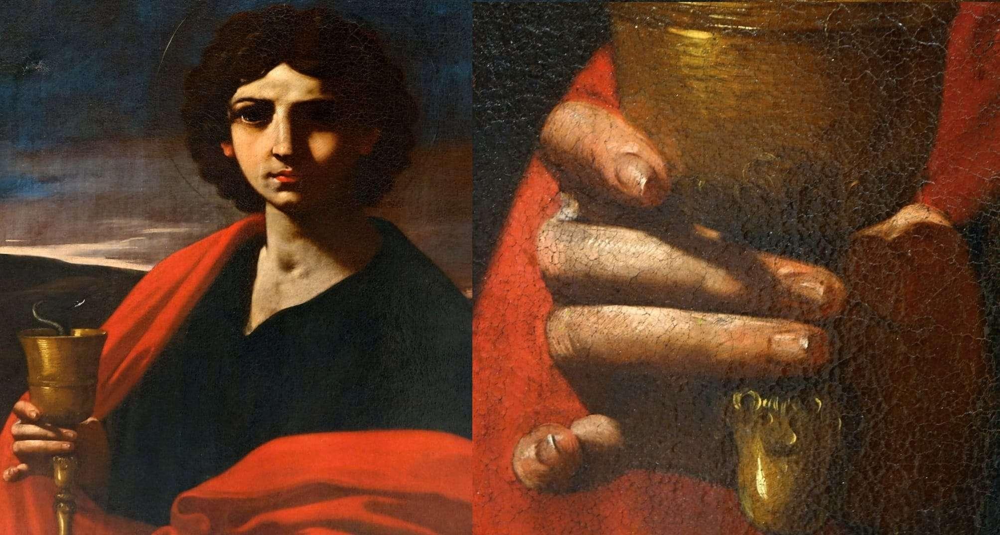 San Giovanni Evangelista dipinto Simone Cantarini Pesaro Verona