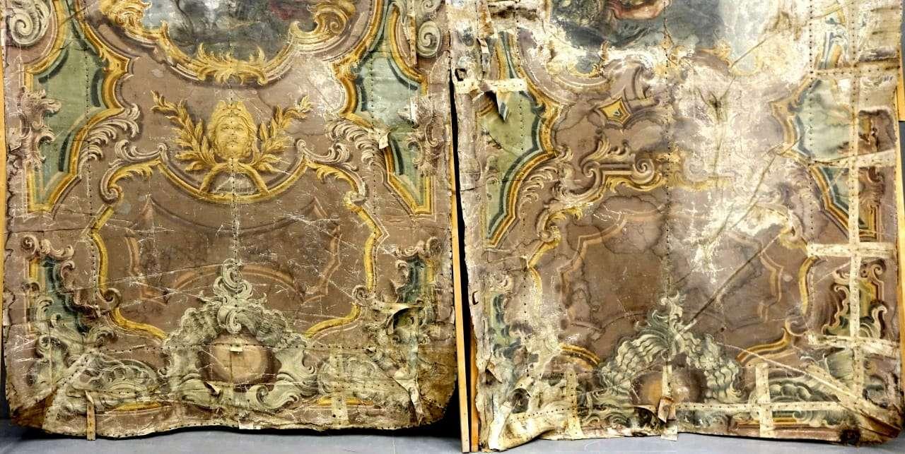 Coppia di soffitti dipinti tela – soffitto dipinto su tela 1060004  Gognabros.it