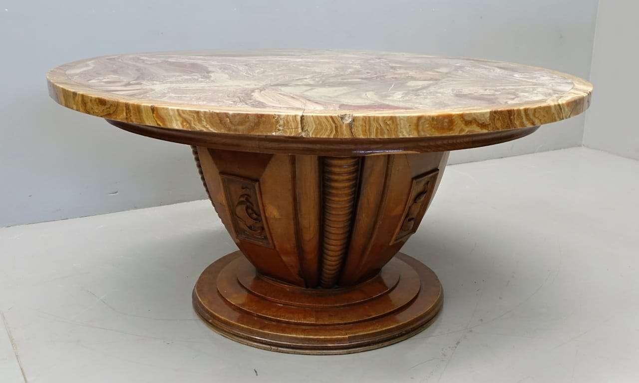 Sala da pranzo Art Deco' tavolo rotondo in marmo 1017023