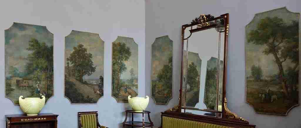 collezione di 6 dipinti Quadri pannelli succi d'erba firmati Luigi Onetti 1117023