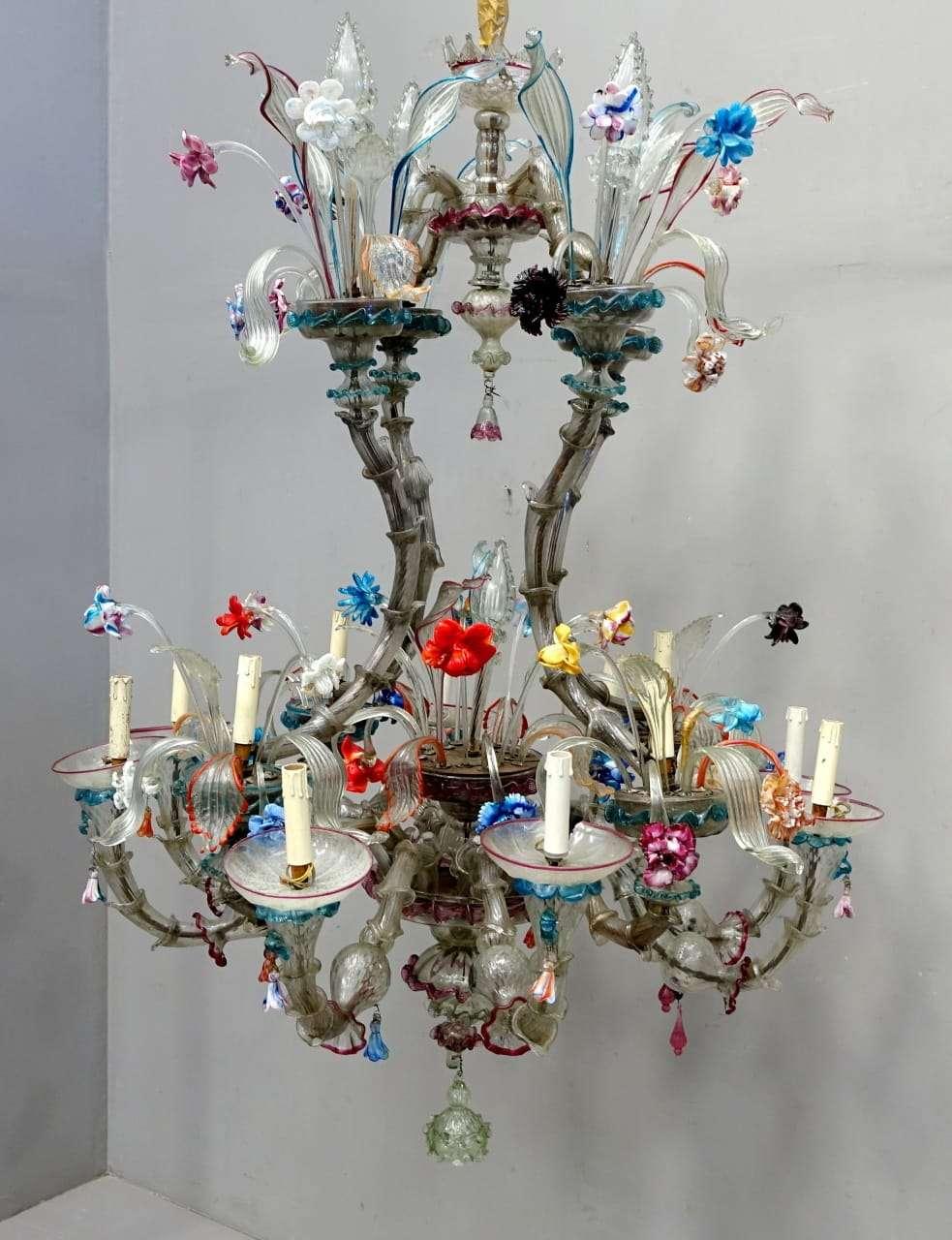 Grande lampadario ca rezzonico vetro murano for Tartarughiera grande vetro