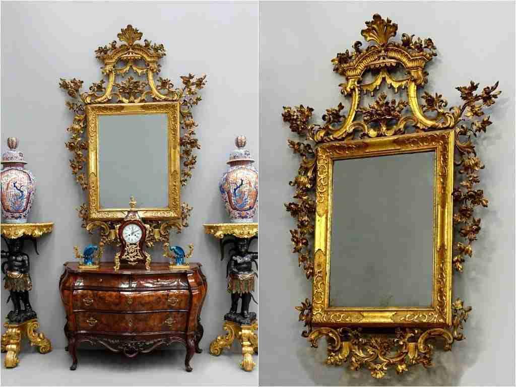 Specchiera dorata Luigi XV epoca 700