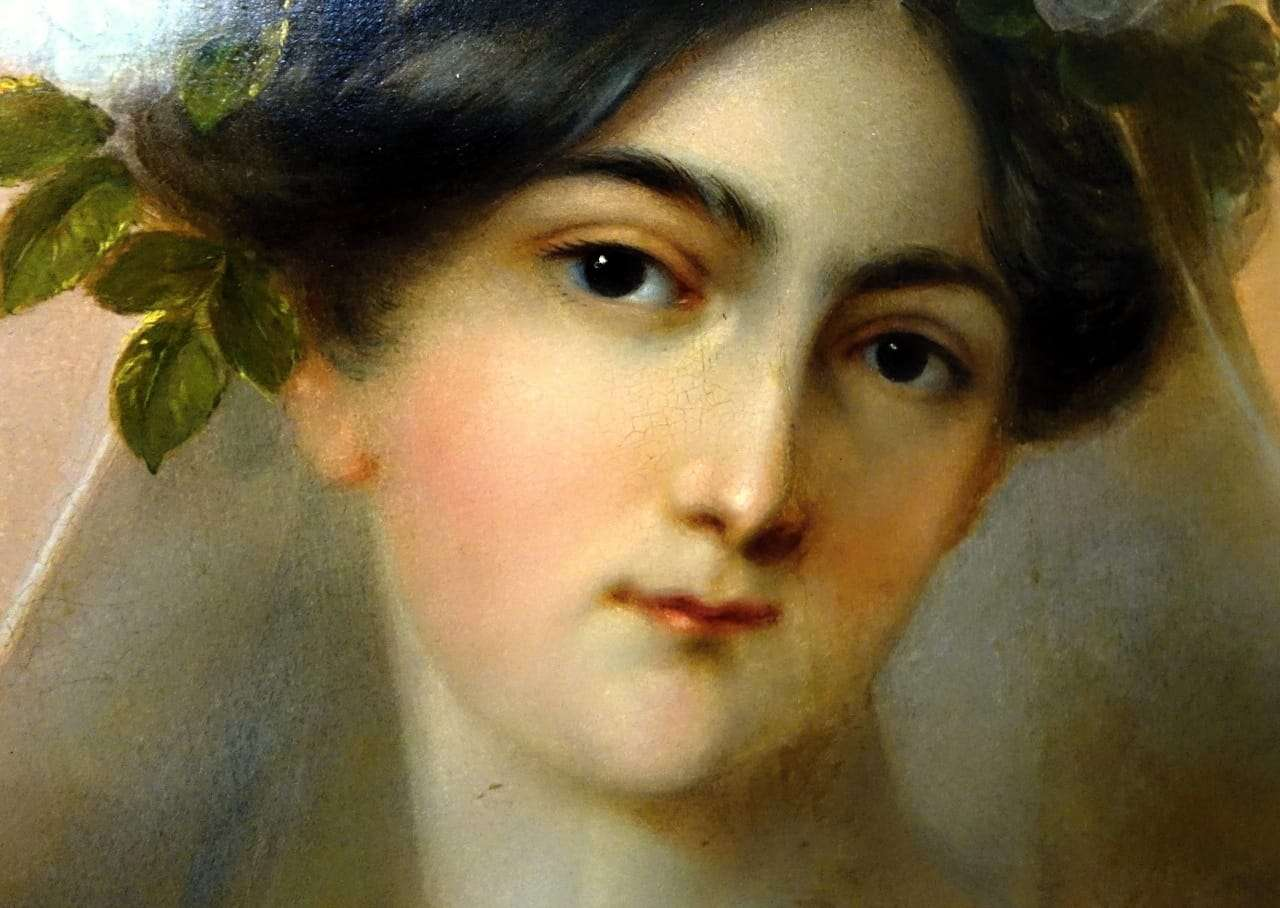 Dipinto olio su tela raffigurante Flora firmato Carl Agricola 0118012