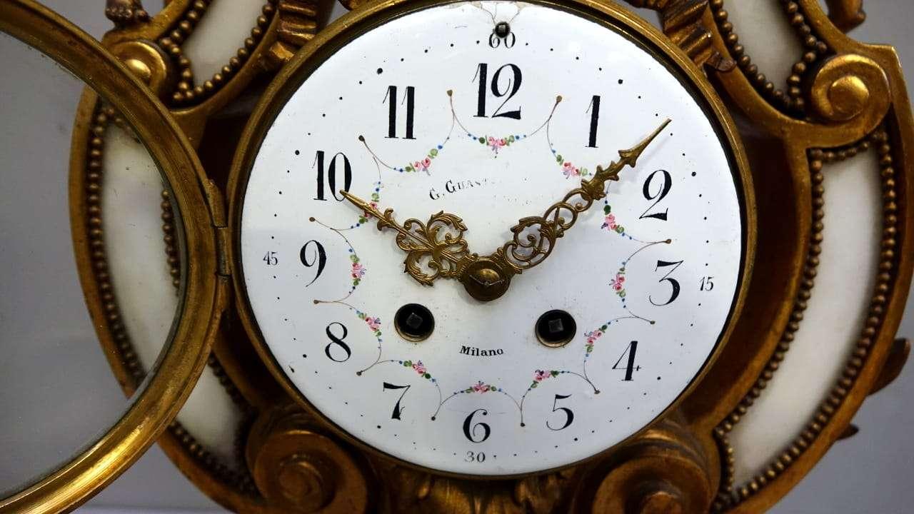 Orologio a lira Francese bronzo dorato 0218012