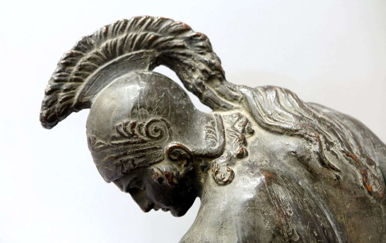 Scultura in rame raffigurante Achille  02189006