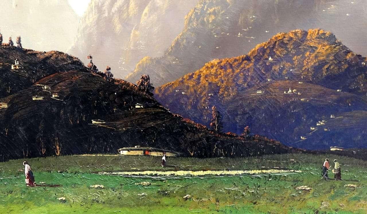 Quadro dipinto paesaggio firmato Giuseppe Pessina