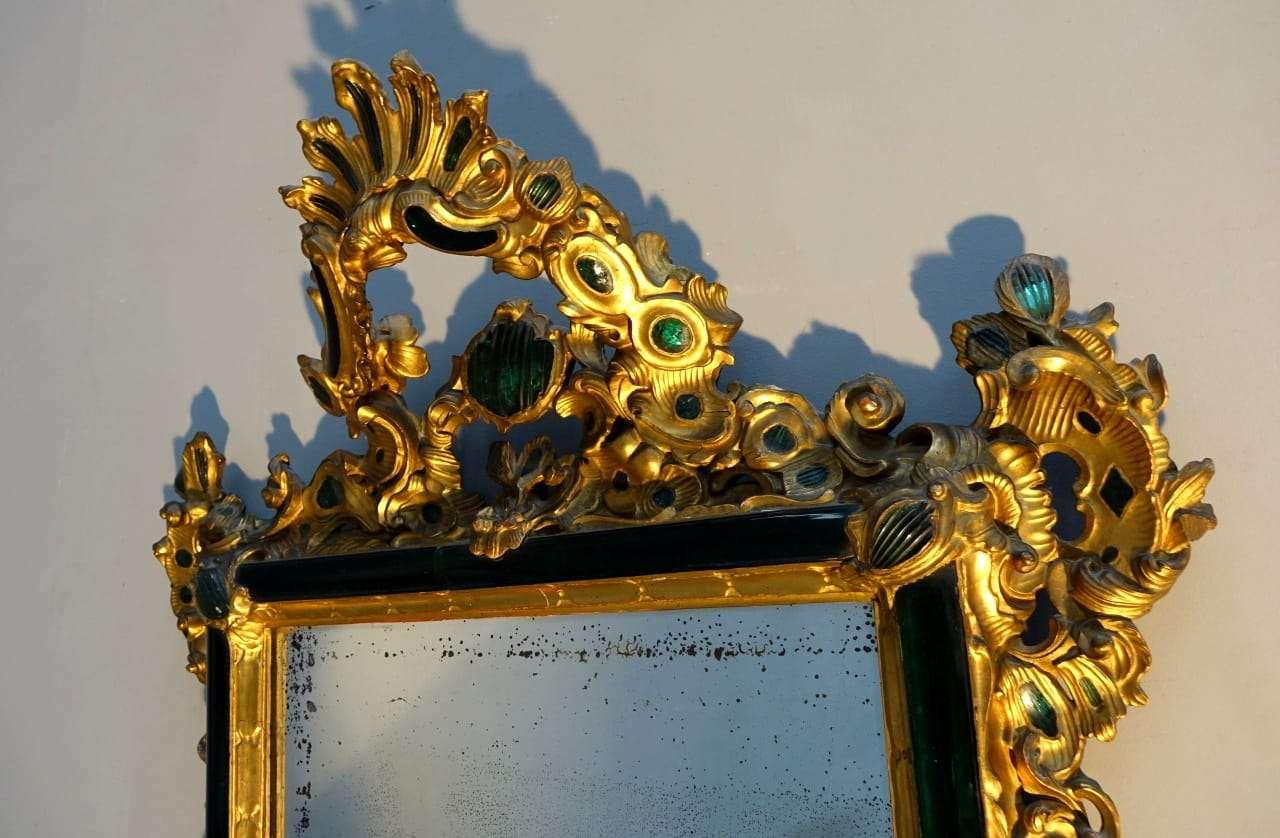 Specchiera Luigi XV Veneziana epoca 700 vetri di murano