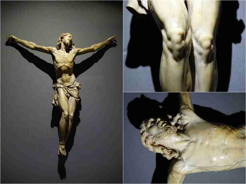 Cristo in avorio epoca '600 genovese Domenico Bissone