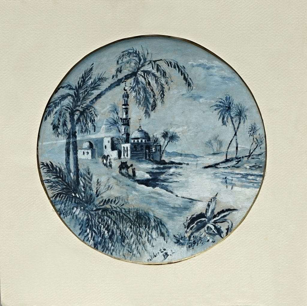 Dipinto orientalista firmato B.L. Ottobre 1926 – Brignoli Luigi – 0618019