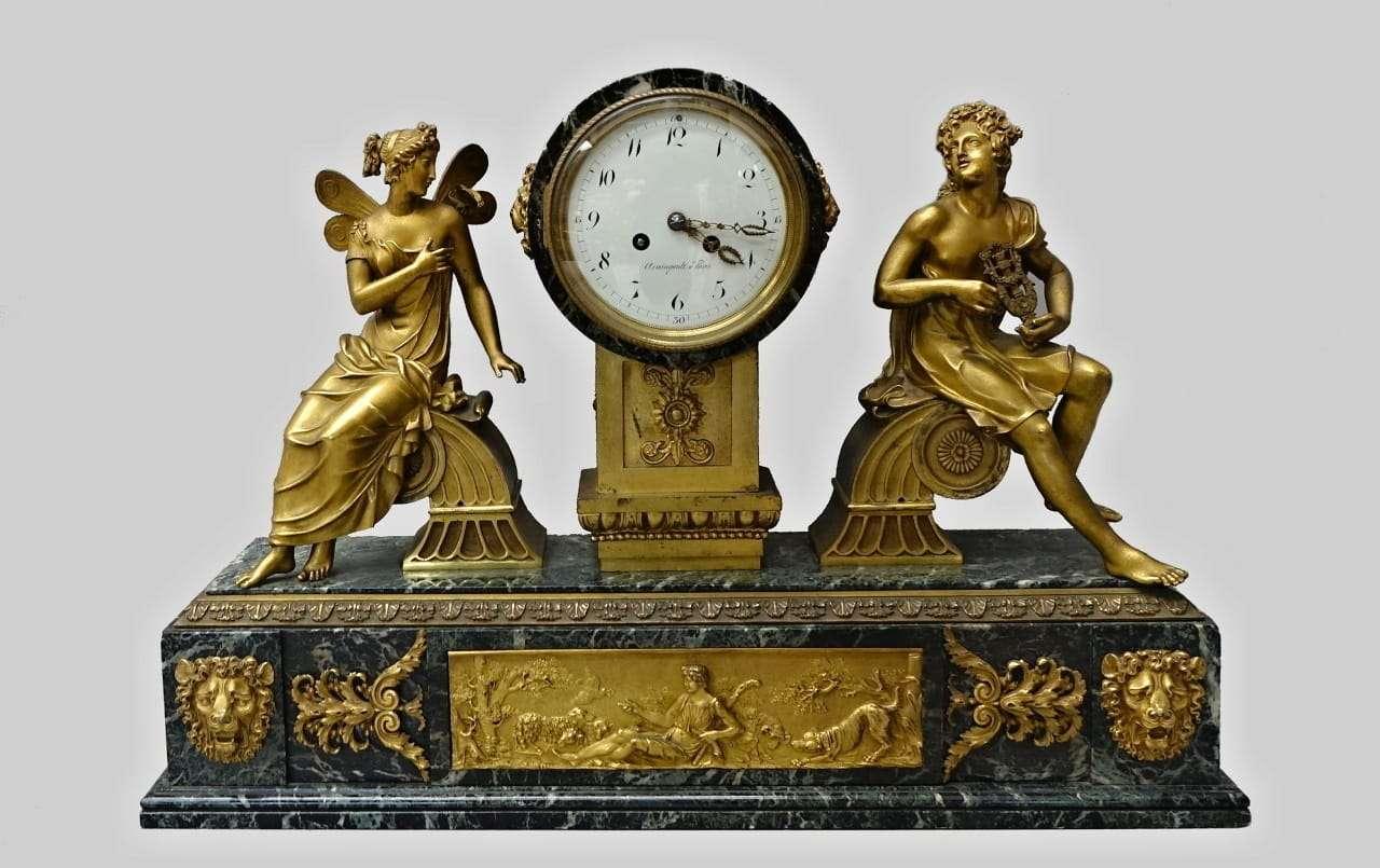 Orologio francese in bronzo firmato Armingault a Paris
