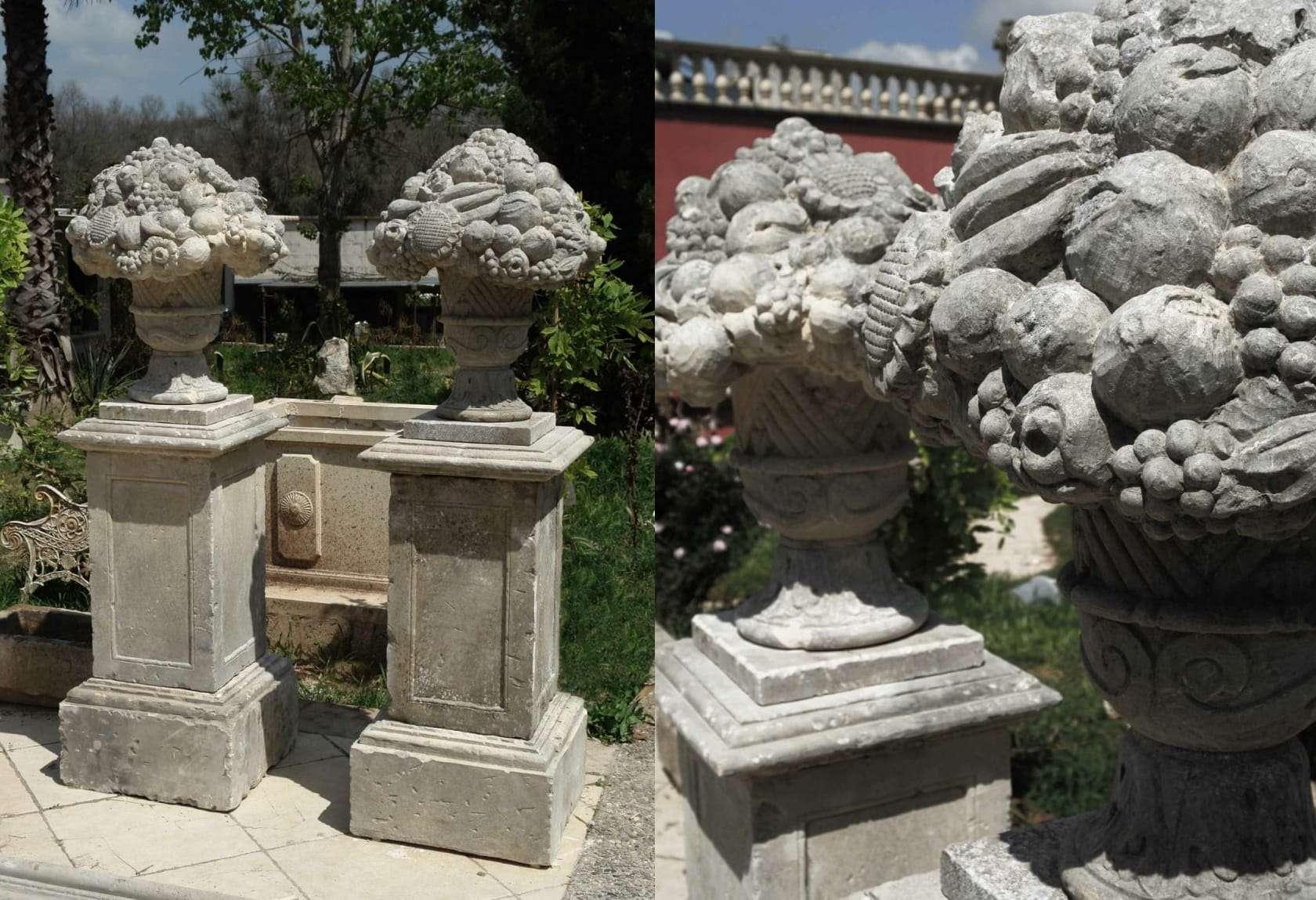 Quattro stagioni sculture pietra di vicenza for Arredo giardino lecce