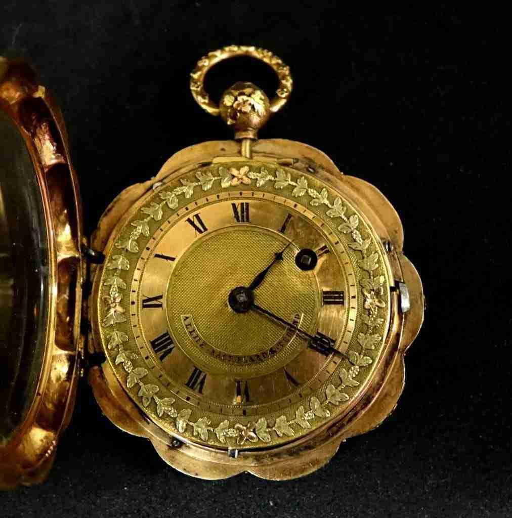 Orologio da tasca alliez bachelard & terond oro