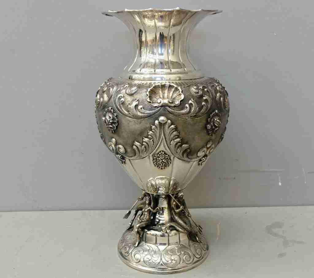 Vaso argento massiccio 800 punzonato